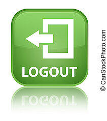 Logout special soft green square button