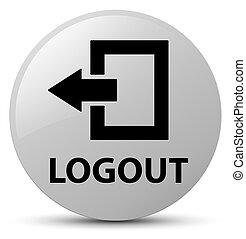 Logout white round button
