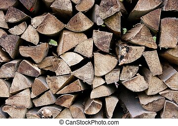 Logpile - Closeup of any logs piled up