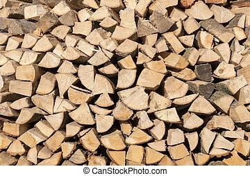 Logs. - Logs in estate Duivenvoorde in Voorschoten, ...