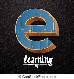 logtype, e- aprendizaje, diseño