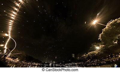 loi khratong festival timelapse - loi krathong festival...