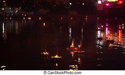 Loi Krathong festival in thailand - Loy Krathong festival in...
