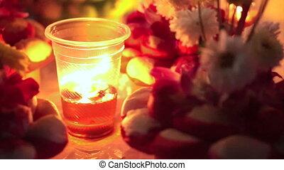 Loi Krathong festival night candle - Loy Krathong festival....