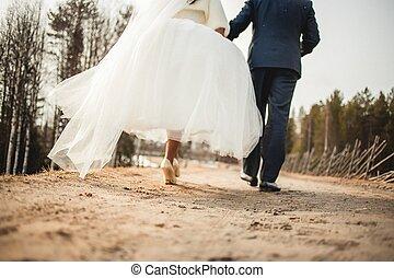 loin, aller, couple, mariage