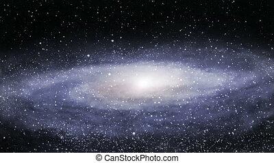 loin, galaxie, loopable
