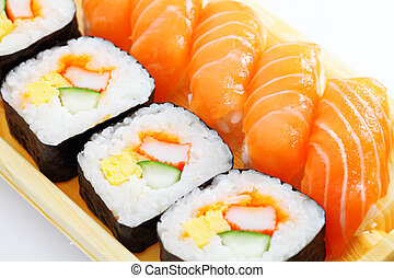 loin, sushi, prendre