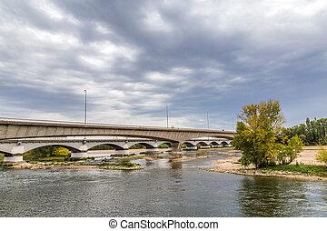 Loire bridge in Orleans in France