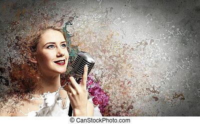 loiro, cantor, femininas