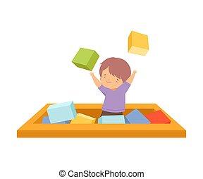 loisir, actif, vecteur, blanc, illustration, enfants, fond
