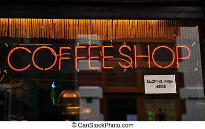 loja, amsterdão, café, países baixos