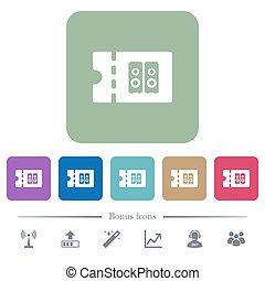 loja, apartamento, quadrado, arredondado, ícones, cupão, fundos, desconto, alta-fidelidade, cor