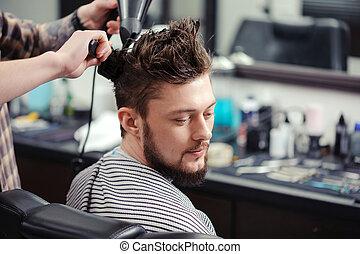 loja barbeiro, cliente