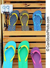 loja, borracha, sapatos, chinelo