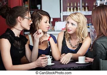 loja, café, amigos