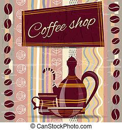 loja, café, signboard