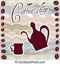 loja, café, sinal