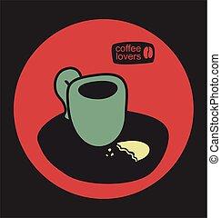 loja, café, vetorial, ilustração