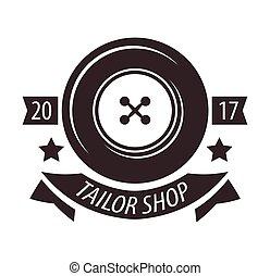 loja, costureira, salão, alfaiate, atelier, vetorial, modelo, ou, ícone