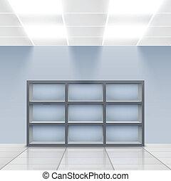 loja de departamentos, interior, detalhe