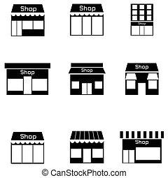 loja, jogo, ícone
