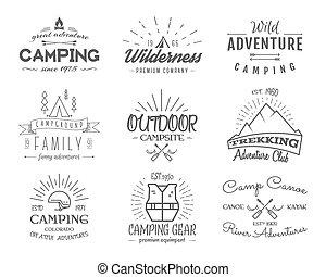loja, jogo, acampamento, canoa, vindima, viagem, família, ...