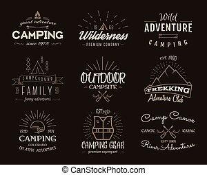 loja, jogo, antigas, canoa, cores, logotipo, emblemas, ...