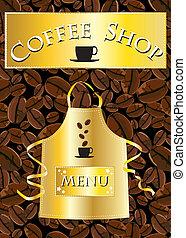 loja, menu, café