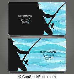 loja, negócio, pesca, cartão