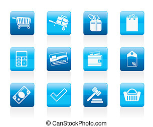 loja online, ícones