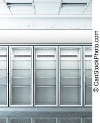 loja, refrigerador, vazio