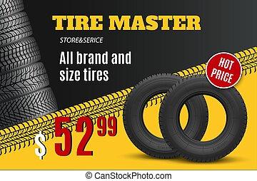 loja, roda, pneu, oferta, car, venda, pneumático, automático, ou, loja