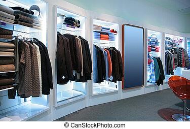 loja, superior, roupas
