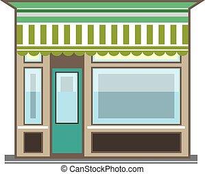 loja, vetorial, frente