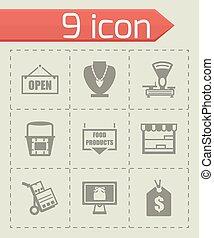 loja, vetorial, jogo, ícone