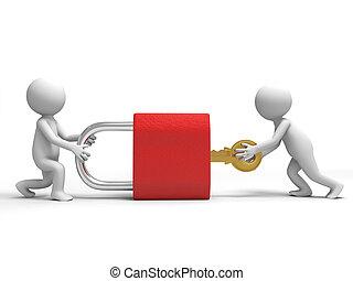 lok i klucz