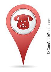 lokaliseringen, yndlinger, ikon