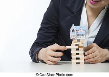 lokata, ryzyko, i, niepewność, w, przedimek określony przed rzeczownikami, nieruchomość, mieszkaniowy, targ