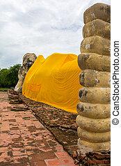 lokayasutharam, bouddha étendu, thaïlande, ayutthaya, wat