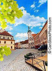 Loket main square, little town in the west of Czech Republic, Eastern Europe