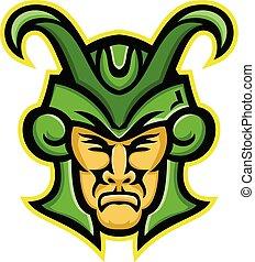 Loki Norse God Mascot - Mascot icon illustration of head of...