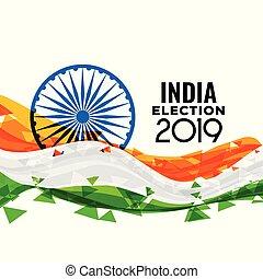 loksabha, indio, diseño, elección, 2019
