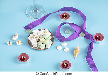 Lokum and candies. High quality photo