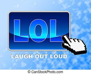 Lol Button Laugh Out Loud