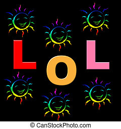 Lol Kids Means Laugh Out Loud And Humorous