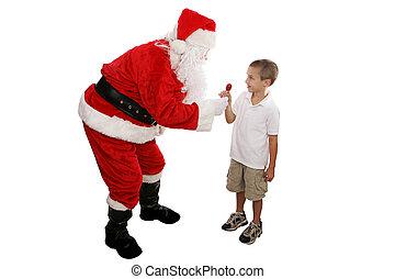 lolipop, 從, 聖誕老人, 充分的身体