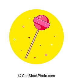 Lolipop icon design. Illustration in flat style.