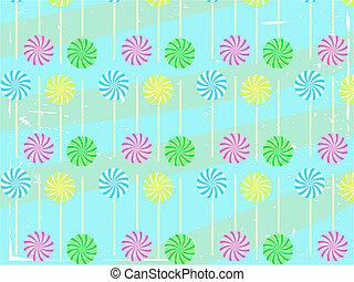 Lollipop Abstract Vector Background