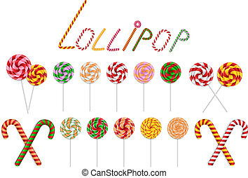 Lollipop and candy cane collection
