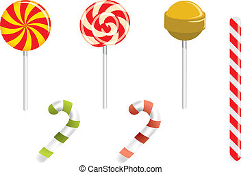 Lollipop and different candies